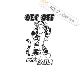 2x Get off my tail Vinyl Decal Sticker Different colors & size for Cars/Bikes/Windows