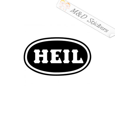 2x HEIL Logo Vinyl Decal Sticker Different colors & size for Cars/Bikes/Windows