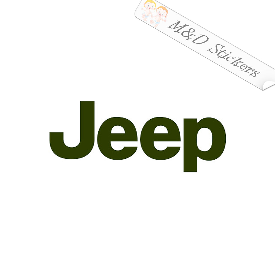 2x Jeep Logo Vinyl Decal Sticker Different colors & size for Cars/Bikes/Windows