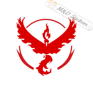 2x Pokemon Team Valor Logo Vinyl Decal Sticker Different colors & size for Cars/Bikes/Windows