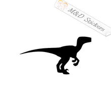 2x Dinosaur Velociraptor Vinyl Decal Sticker Different colors & size for Cars/Bikes/Windows