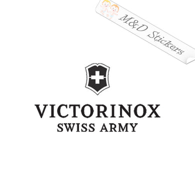 2x Victorinox Logo Vinyl Decal Sticker Different colors & size for Cars/Bikes/Windows