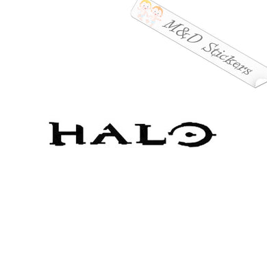 2x Halo logo Vinyl Decal Sticker Different colors & size for Cars/Bikes/Windows