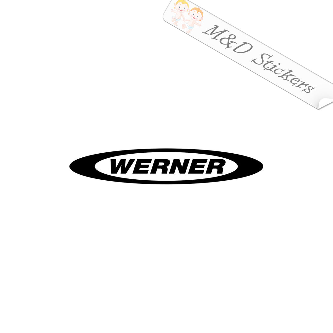 2x Werner Ladders Logo Vinyl Decal Sticker Different colors & size for Cars/Bikes/Windows
