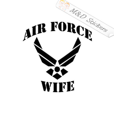 2x US Air Force Wife Vinyl Decal Sticker Different colors & size for Cars/Bikes/Windows