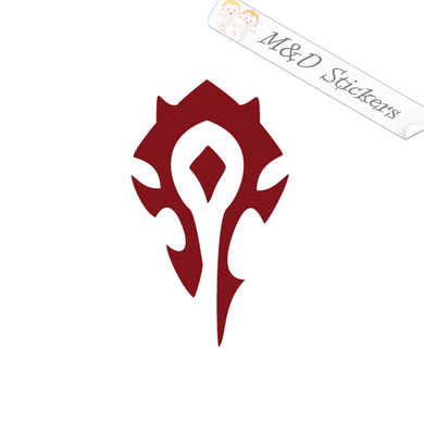 2x World Of Warcraft Horde political fraction Video Game Vinyl Decal Sticker Different colors & size for Cars/Bikes/Windows
