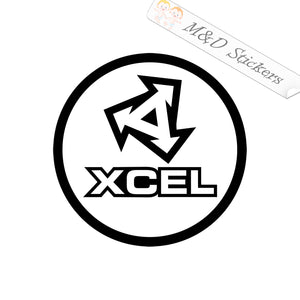 2x Xcel Logo Vinyl Decal Sticker Different colors & size for Cars/Bikes/Windows