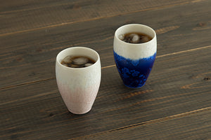 gradation deep blue tumbler