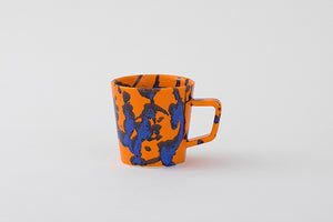 splash orange mug
