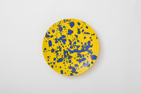 splash yellow plate 24