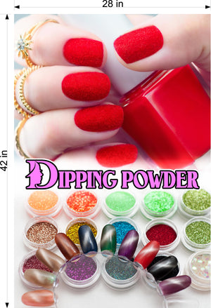 Dipping Powder 05 Wallpaper Poster Decal with Adhesive Backing Wall Sticker Decor Nail Salon Sign Vertical