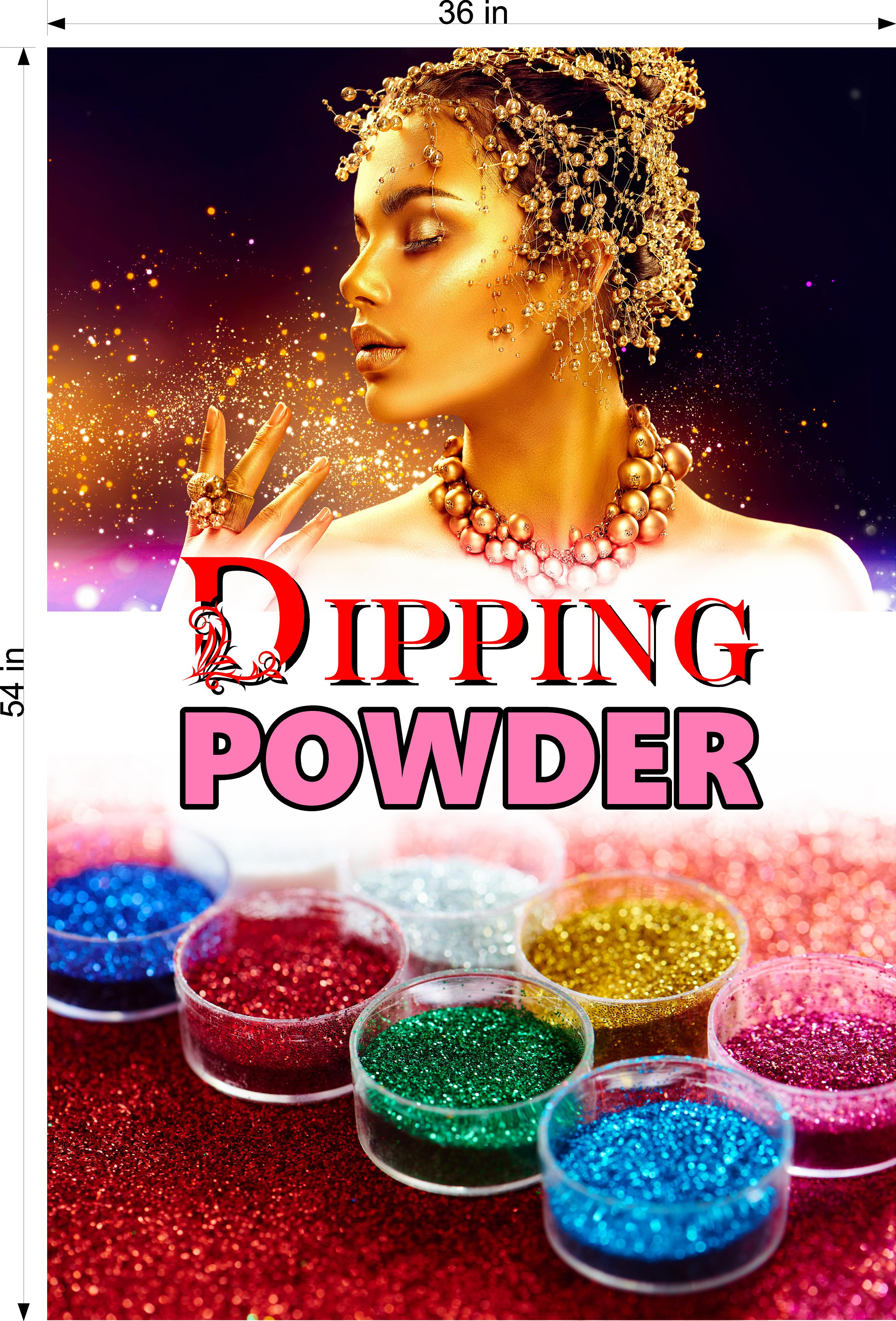 Dipping Powder 04 Photo-Realistic Paper Poster Premium Matte Interior Inside Sign Non-Laminated Nail Salon Vertical