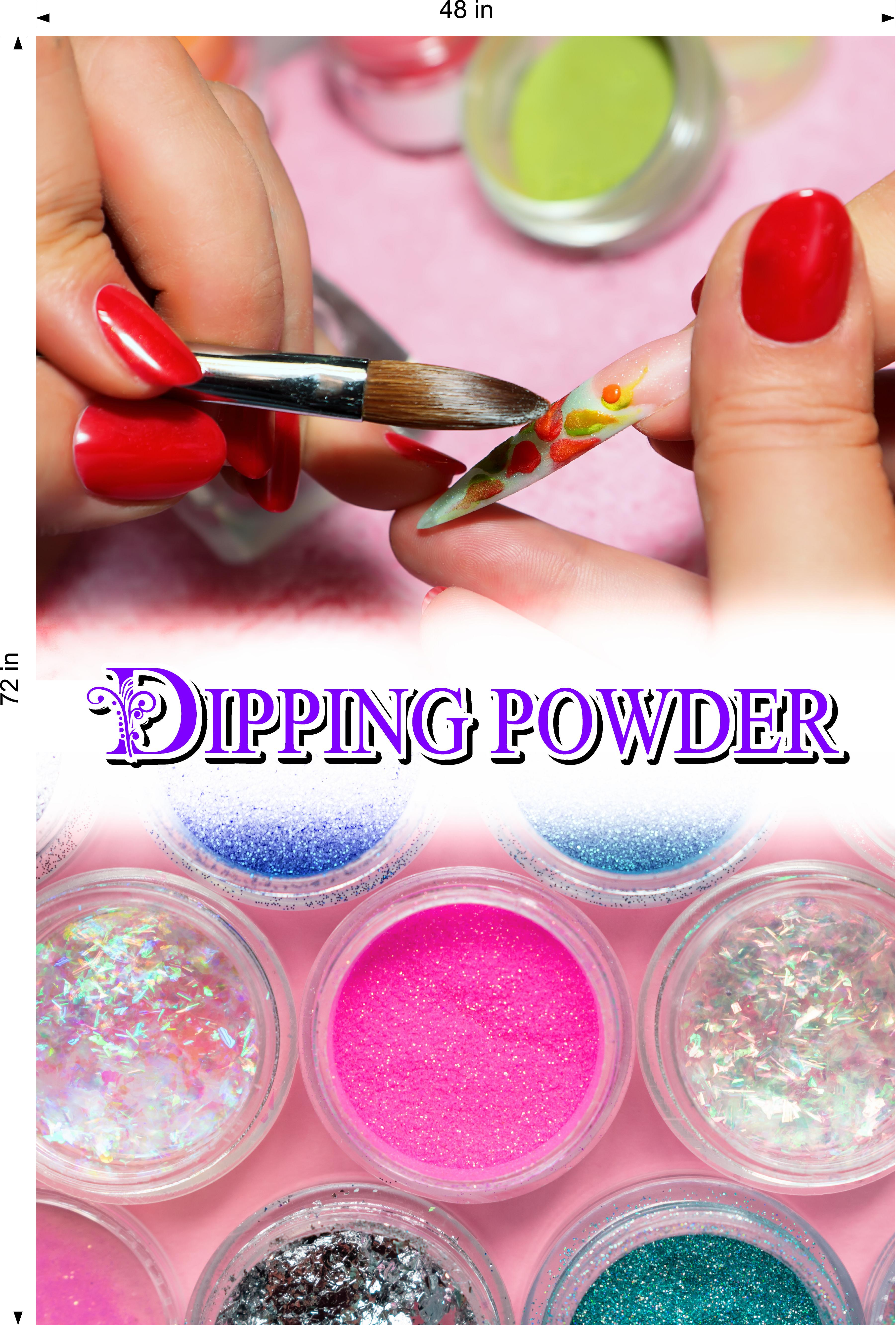 Dipping Powder 06 Photo-Realistic Paper Poster Premium Matte Interior Inside Sign Non-Laminated Nail Salon Vertical