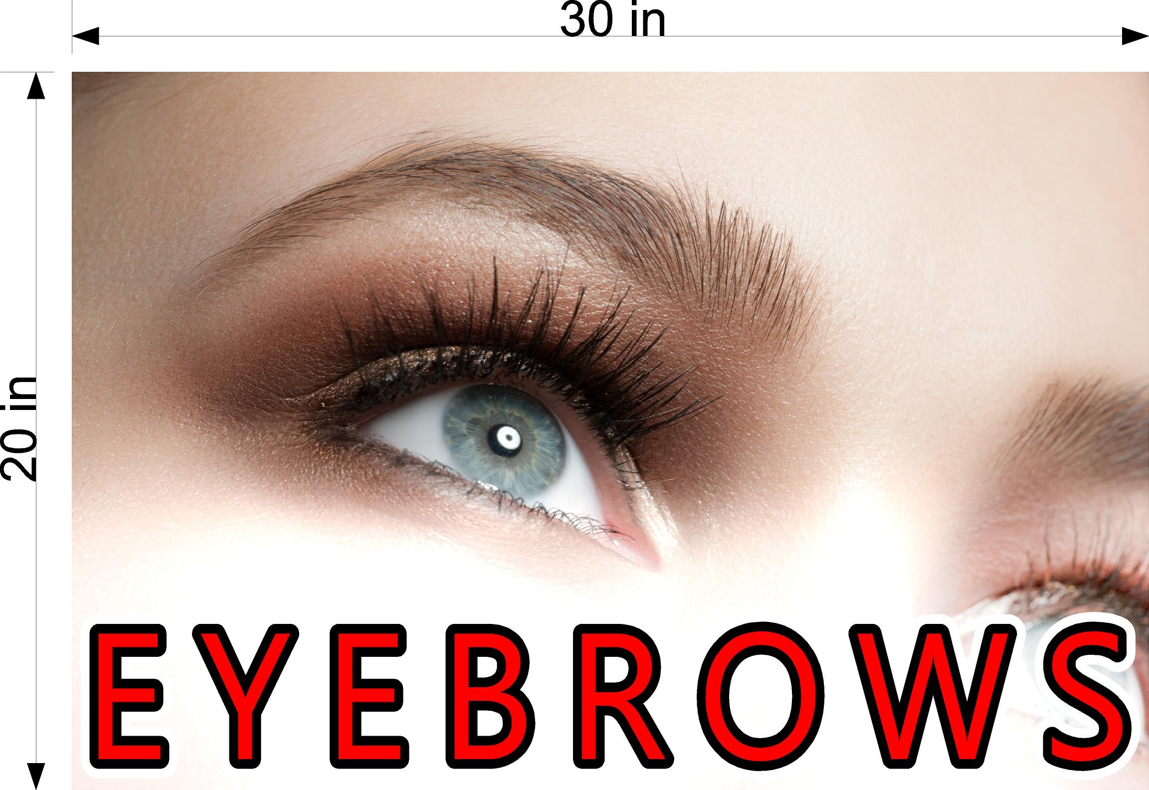Eyebrows 01 Photo-Realistic Paper Poster Premium Matte Interior Inside Sign Advertising Marketing Wall Window Non-Laminated Horizontal Horizontal