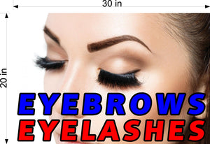 Eyebrows 04 Wallpaper Poster Decal with Adhesive Backing Wall Sticker Decor Indoors Interior Sign Horizontal Eyelashes