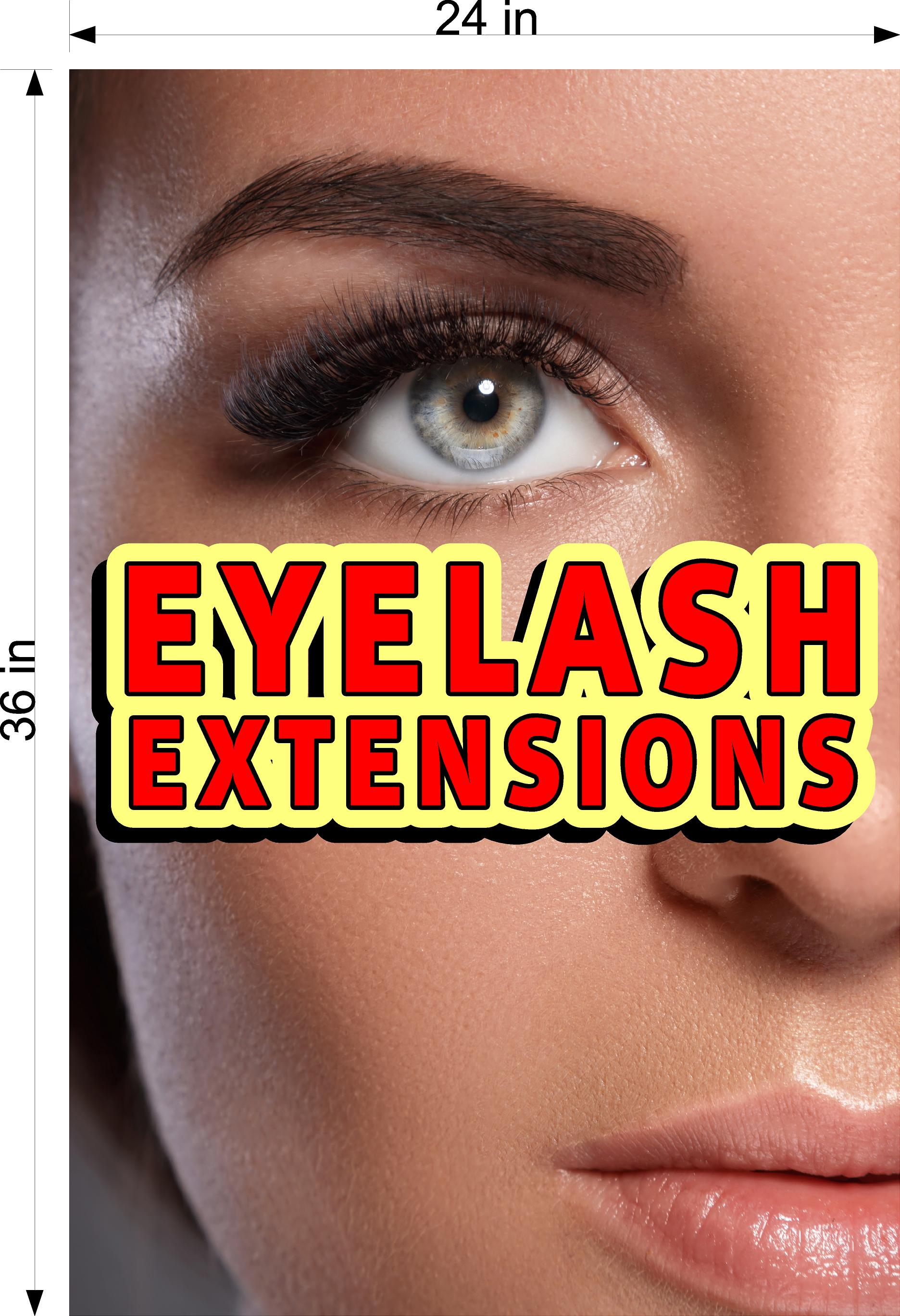 Eyelash 10 Photo-Realistic Paper Poster Premium Matte Interior Inside Sign Advertising Marketing Wall Window Non-Laminated Vertical Extension Vertical