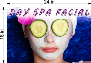 Facial 06 Photo-Realistic Paper Poster Matte Interior Inside Wall Non-Laminated Horizontal Day Spa