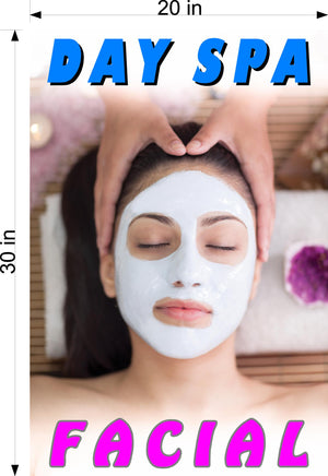 Facial 04 Wallpaper Poster Decal with Adhesive Backing Wall Sticker Decor Day Spa Vertical