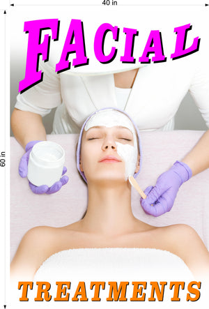 Facial 03 Photo-Realistic Paper Poster Matte Interior Inside Wall Non-Laminated Vertical Treatment Care