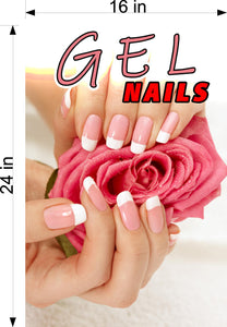 Gel 07 Photo-Realistic Paper Poster Premium Matte Interior Inside Sign Nail Salon Wall Window Non-Laminated Vertical