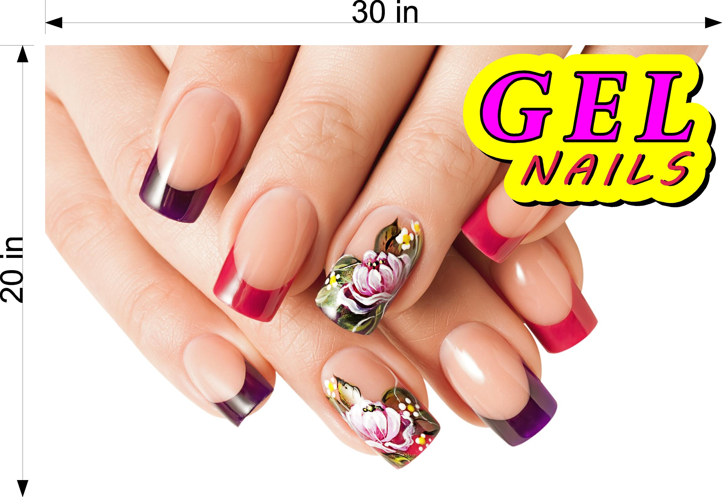 Gel 08 Photo-Realistic Paper Poster Premium Matte Interior Inside Sign Nail Salon Wall Window Non-Laminated Horizontal