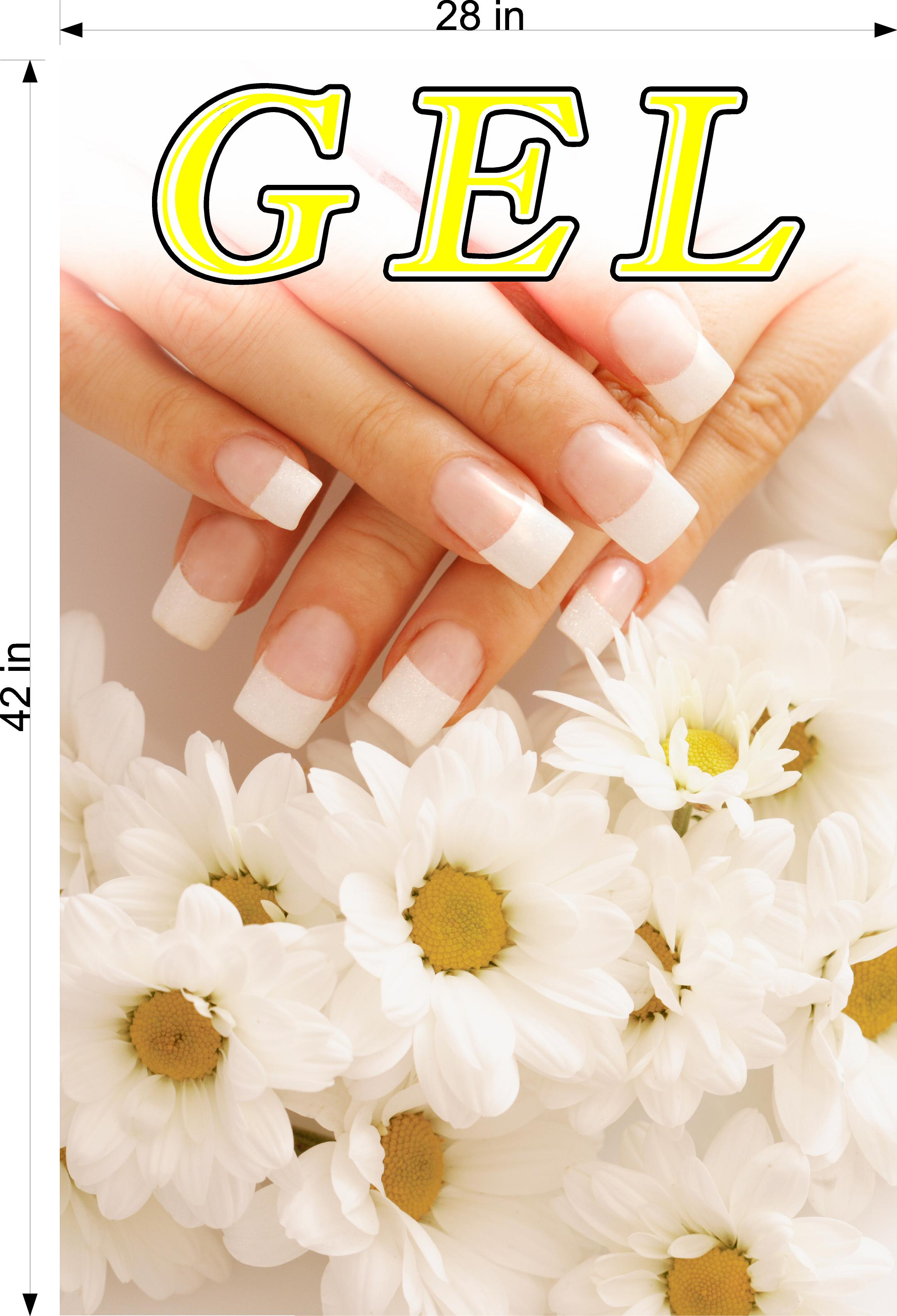 Gel 06 Photo-Realistic Paper Poster Premium Matte Interior Inside Sign Nail Salon Wall Window Non-Laminated Vertical