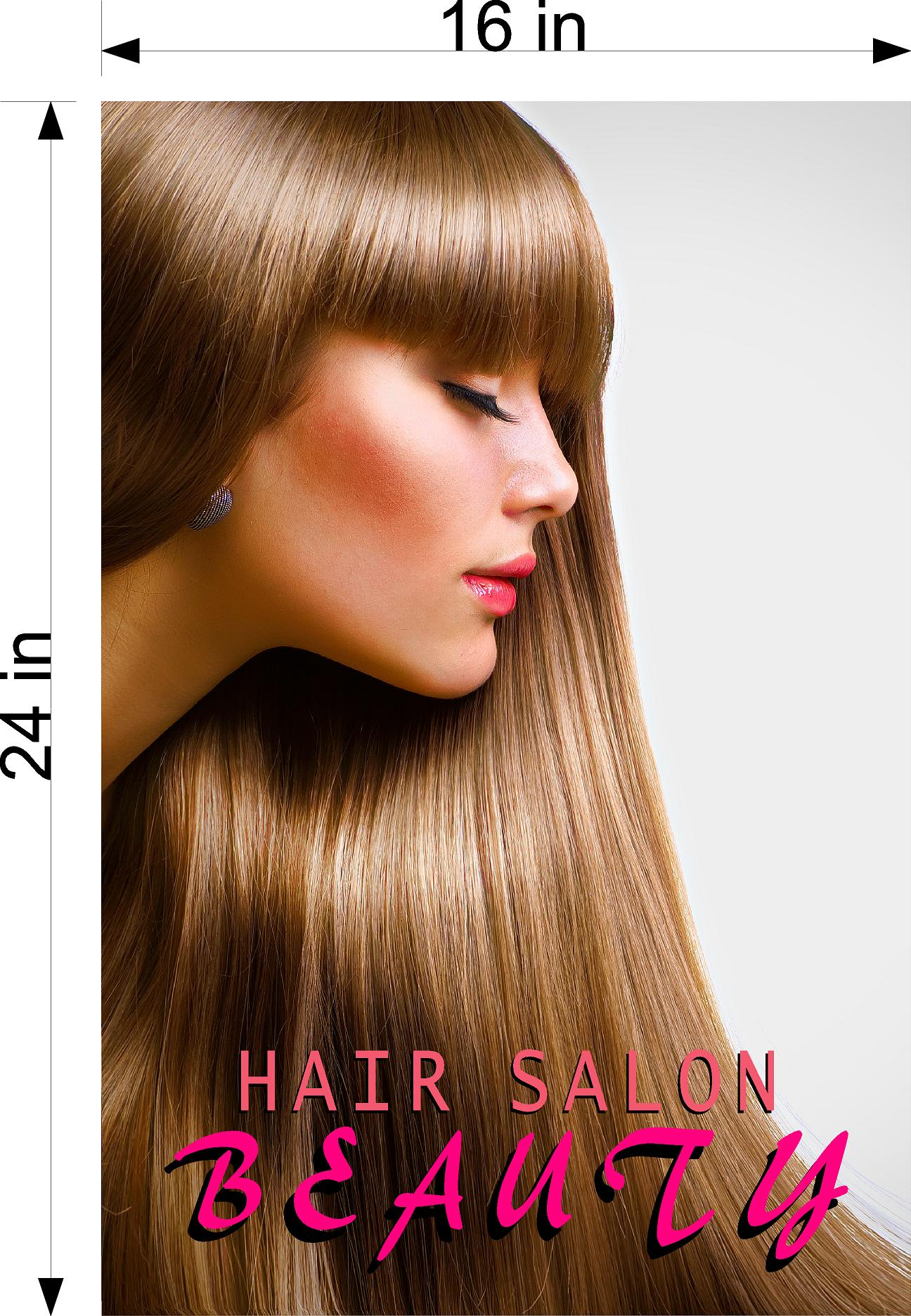 Hair Salon 01 Photo-Realistic Paper Poster Matte Interior Inside Sign Non-Laminated Vertical