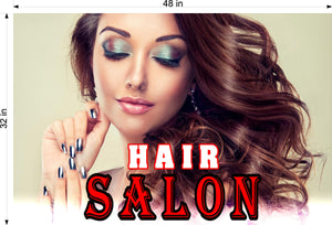 Hair Salon 04 Photo-Realistic Paper Poster Matte Interior Inside Sign Non-Laminated Horizontal