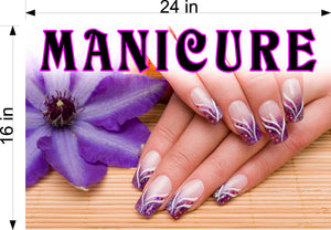 Manicure 30 Perforated Mesh One Way Vision See-Through Window Vinyl Nail Salon Sign Vertical
