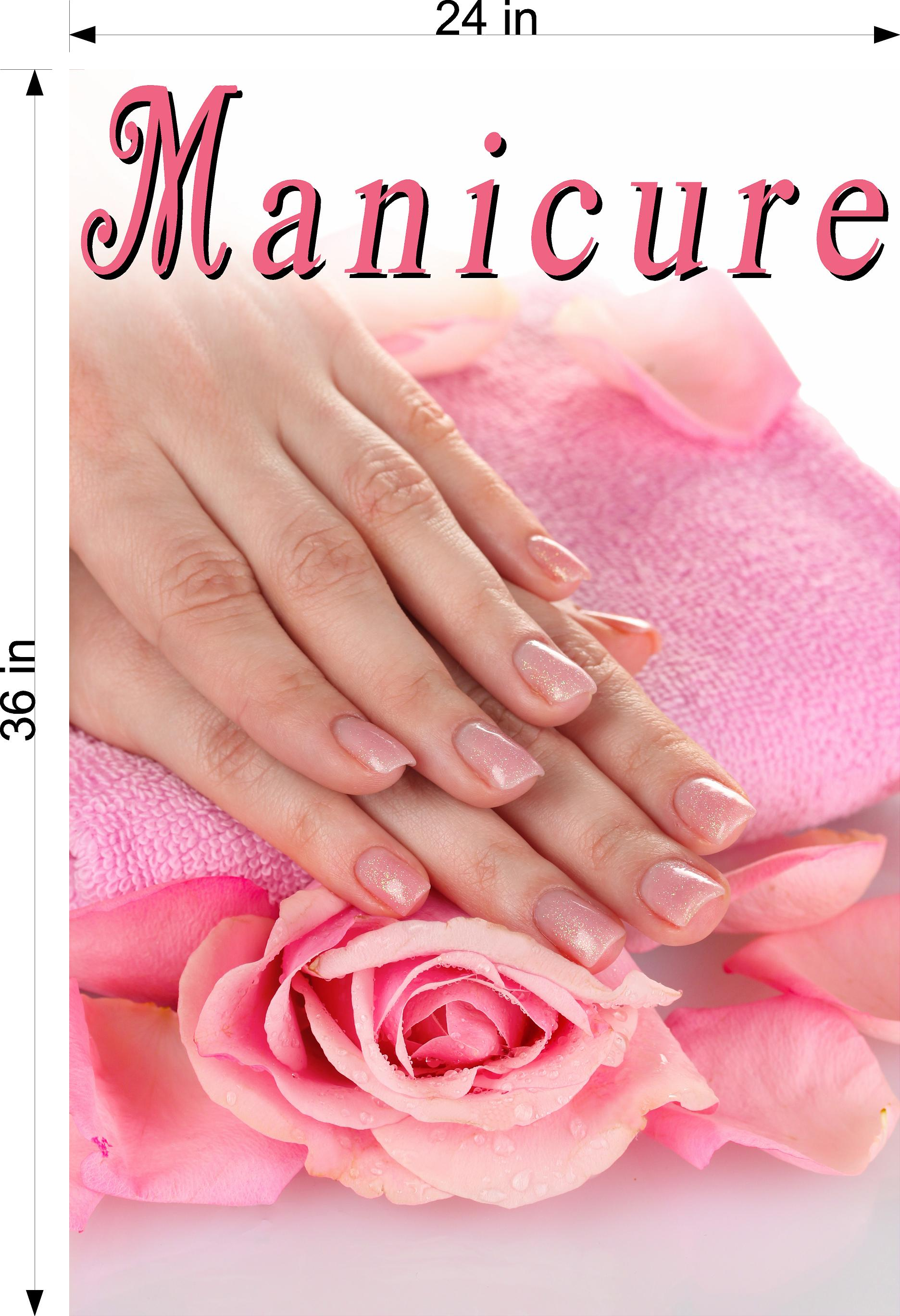 Manicure 27 Wallpaper Fabric Poster Decal with Adhesive Backing Wall Sticker Decor Indoors Interior Sign Vertical