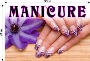 Manicure 30 Wallpaper Fabric Poster Decal with Adhesive Backing Wall Sticker Decor Indoors Interior Sign Horizontal