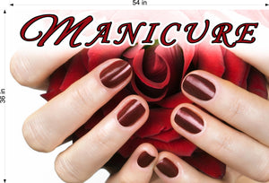 Manicure 24 Photo-Realistic Paper Poster Premium Matte Interior Inside Sign Advertising Marketing Wall Window Non-Laminated Horizontal
