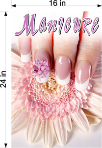 Manicure 22 Perforated Mesh One Way Vision See-Through Window Vinyl Nail Salon Sign Vertical