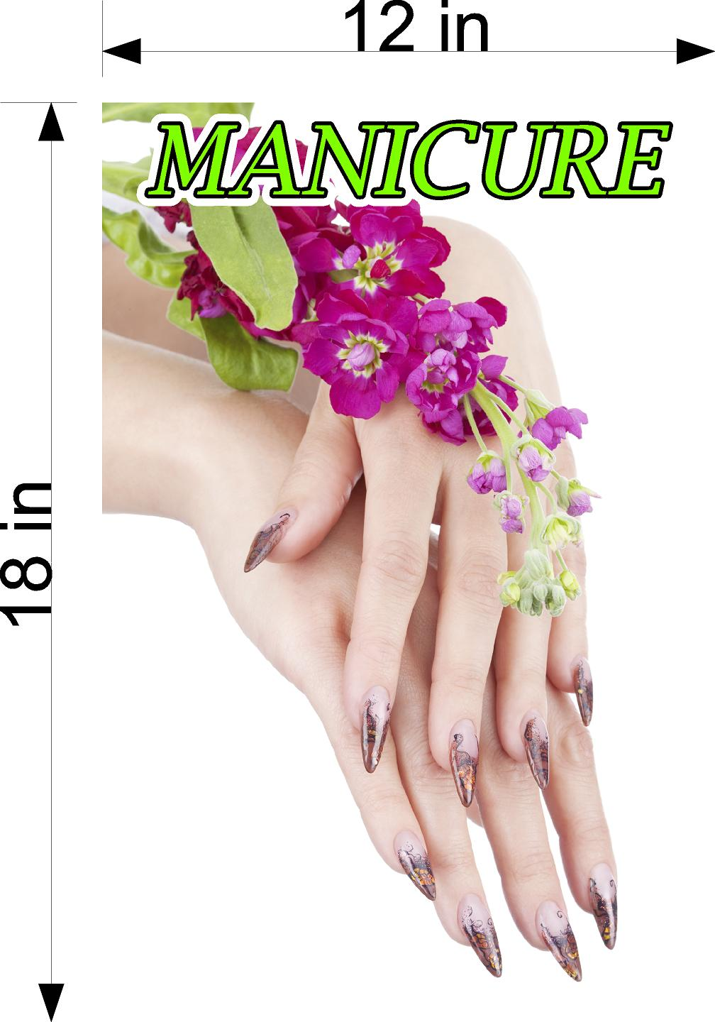 Manicure 02 Wallpaper Poster Decal with Adhesive Backing Wall Sticker Decor Indoors Interior Sign Vertical