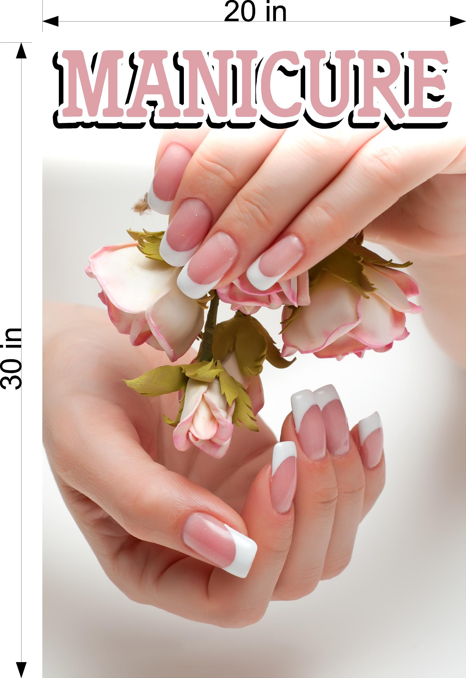 Manicure 09 Photo-Realistic Paper Poster Premium Matte Interior Inside Sign Advertising Marketing Wall Window Non-Laminated Vertical