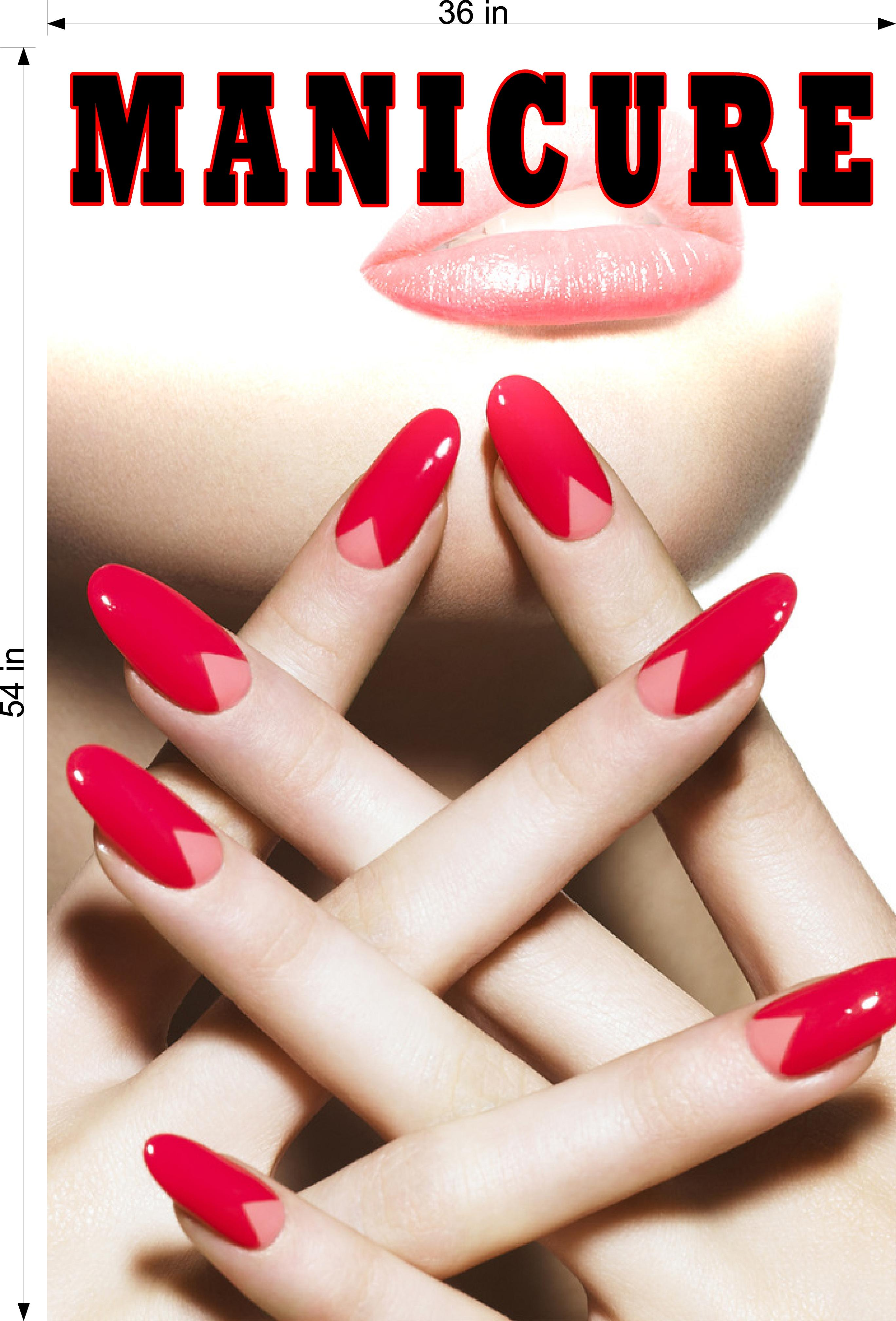 Manicure 14 Photo-Realistic Paper Poster Premium Matte Interior Inside Sign Advertising Marketing Wall Window Non-Laminated Vertical