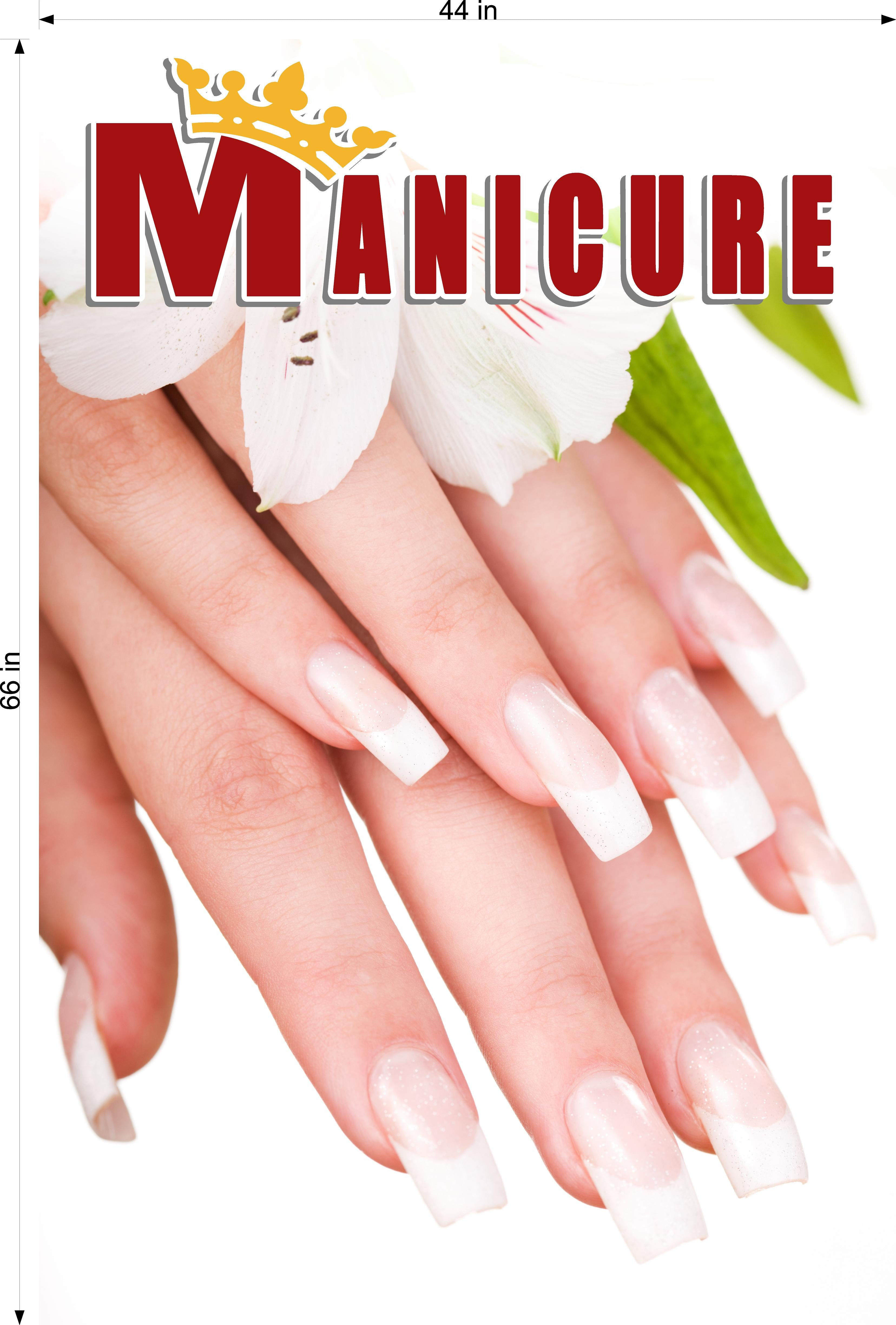 Manicure 19 Photo-Realistic Paper Poster Premium Matte Interior Inside Sign Advertising Marketing Wall Window Non-Laminated Vertical