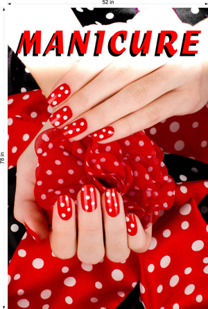 Manicure 15 Photo-Realistic Paper Poster Premium Matte Interior Inside Sign Advertising Marketing Wall Window Non-Laminated Vertical