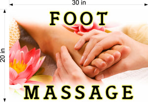 Massage 04 Photo-Realistic Paper Poster Matte Interior Inside Wall Window Non-Laminated Sign Therapy Back Body Foot Horizontal