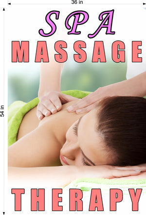 Massage 08 Photo-Realistic Paper Poster Matte Interior Inside Wall Window Non-Laminated Sign Therapy Back Body Foot Vertical