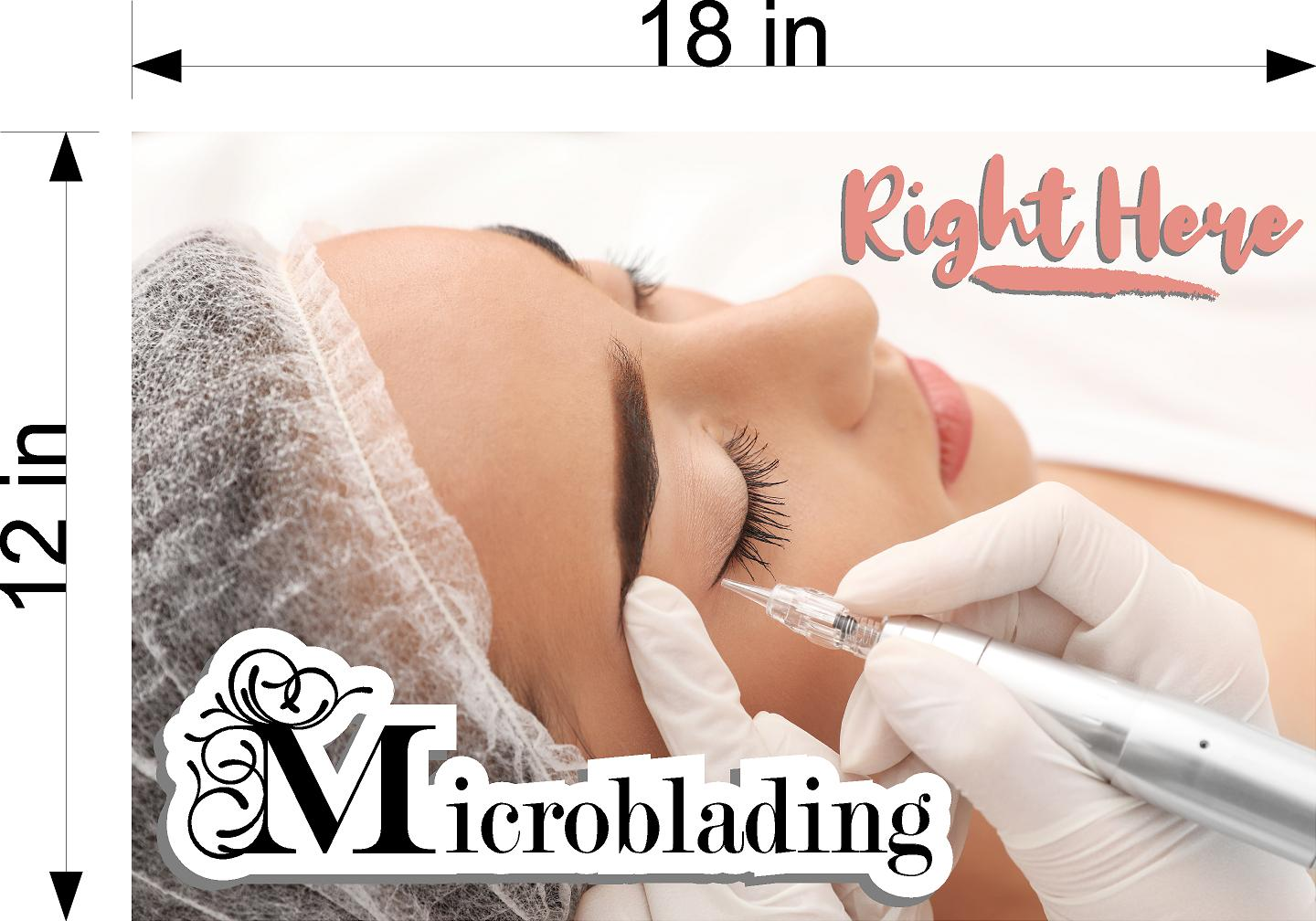 Microblading 19 Wallpaper Fabric Poster with Adhesive Backing Wall Interior Services Permanent Makeup Tattoo Horizontal