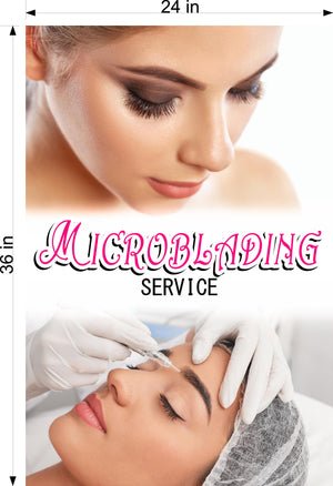 Microblading 13 Wallpaper Fabric Poster with Adhesive Backing Wall Interior Services Permanent Makeup Tattoo Vertical