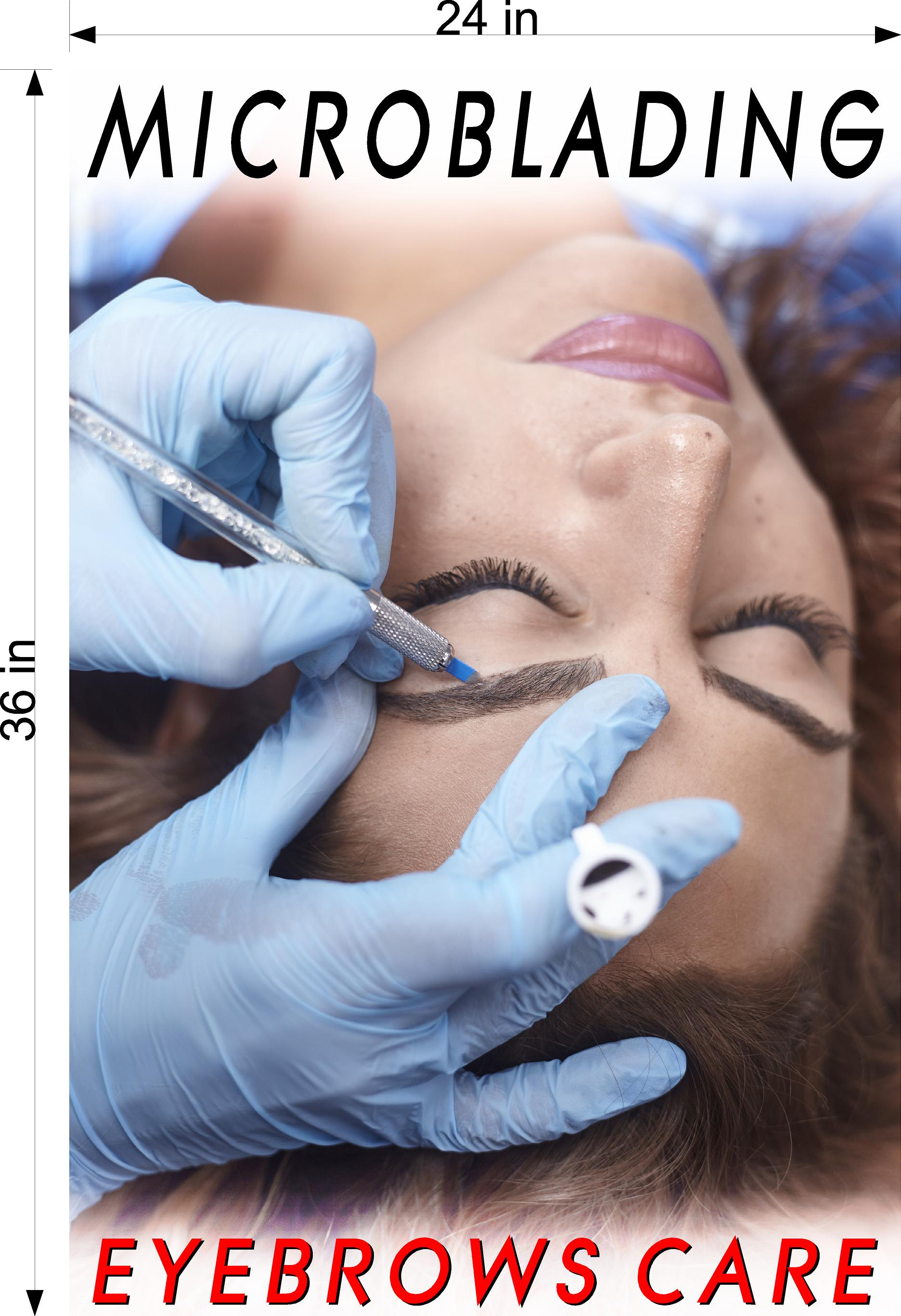 Microblading 07 Photo-Realistic Paper Poster Matte Non-Laminated Permanent Tattoo Vertical