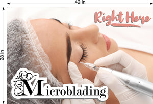 Microblading 19 Perforated Mesh One Way Vision See-Through Window Vinyl Salon Services Permanent Makeup Tattoo Horizontal