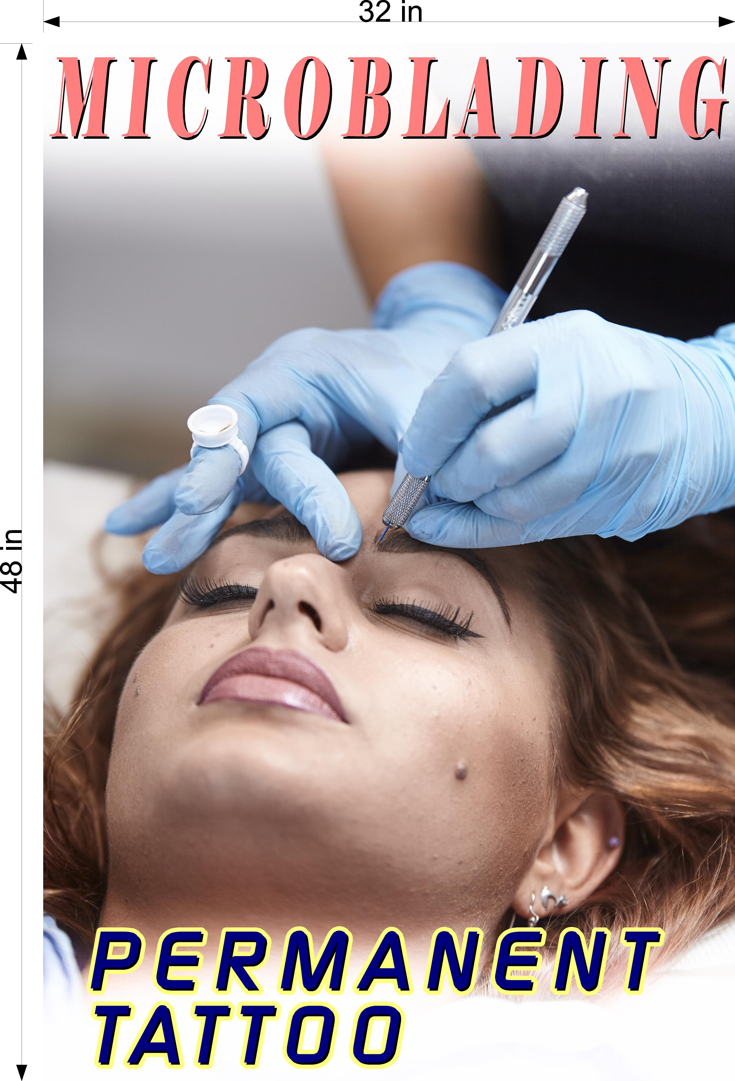 Microblading 06 Photo-Realistic Paper Poster Matte Non-Laminated Permanent Tattoo Vertical