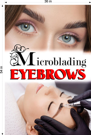 Microblading 16 Perforated Mesh One Way Vision See-Through Window Vinyl Salon Services Permanent Makeup Tattoo Vertical