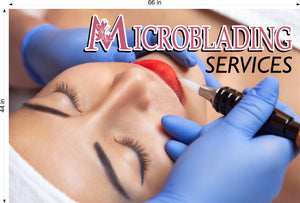 Microblading 18 Photo-Realistic Paper Poster Matte Non-Laminated Permanent Horizontal