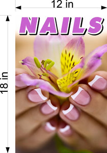 Nails 09 Wallpaper Poster Decal with Adhesive Backing Wall Sticker Decor Indoors Interior Sign Vertical