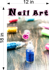 Nail Art 06 Wallpaper Poster Decal with Adhesive Backing Wall Sticker Decor Indoors Interior Sign Vertical