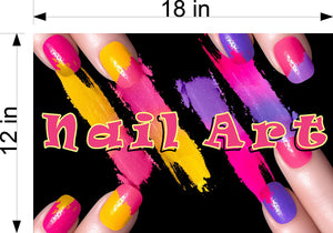 Nail Art 09 Wallpaper Poster Decal with Adhesive Backing Wall Sticker Decor Indoors Interior Sign Horizontal